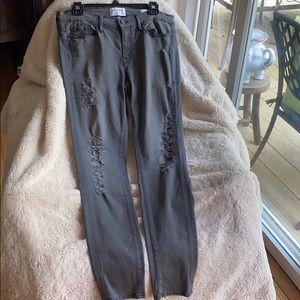 Frame Gray Destroyed Stretch Skinny JeansNeverUsed